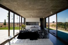 Concrete Constructed Anton House Residing in Countryside of Spain