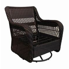 Garden Treasures Glenlee Textured Brown Steel Strap Seat Patio Glider--like this and super comfy when you add their cushions