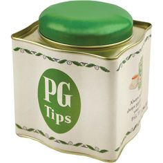 PG Tips been around long time, tea caddy