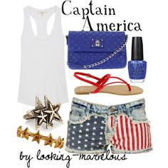 captain america fashion