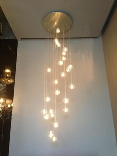 Modern Pendant Light Led Bulbs Included Crystal Suspension Lighting Stairs Dinning Room Loft Light Lamp - All For Decoration Stairway Lighting, Loft Lighting, Foyer Lighting, Modern Chandelier Lighting, Crystal Pendant Lighting, Modern Lighting Design, Chandeliers, Modern Decor, Hallway Chandelier