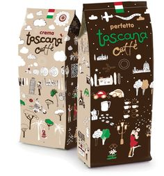 Coffee #Toscana - Day and Night on Packaging of the World - Creative Package Design Gallery