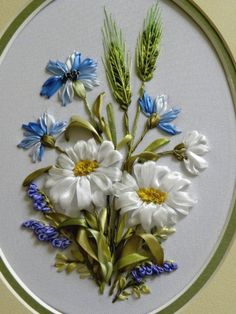 Wonderful Ribbon Embroidery Flowers by Hand Ideas. Enchanting Ribbon Embroidery Flowers by Hand Ideas. Ribbon Embroidery Tutorial, Silk Ribbon Embroidery, Embroidery Stitches, Embroidery Patterns, Hand Embroidery, Embroidery Tattoo, Embroidery Books, Embroidery Supplies, Embroidered Silk