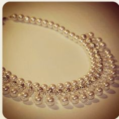 Handmade pearl necklace by love in a mist www.loveinamistbridal.co.uk