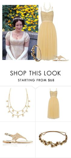 """""""The Ball at Netherfield"""" by erin-wright-1 on Polyvore featuring Tory Burch, Needle & Thread, Forever New and Jennifer Behr"""