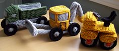 Crpchet construction trucks - Troy would love these!