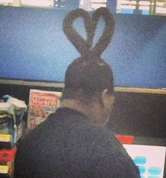 Heart Shaped Hairdo Head at Walmart - Please Be My Valentine & Cut My Hair Fail - Funny Pictures at Walmart