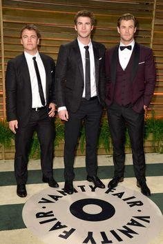Luke Hemsworth, Liam Hemsworth y Chris Hemsworth La fiesta post Oscar de Vanity Fair 2014