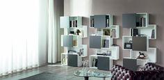 Piquant knihovny s šedými dvířky Shelving, Police, The Unit, Home Decor, Shelves, Decoration Home, Room Decor, Shelving Units, Home Interior Design