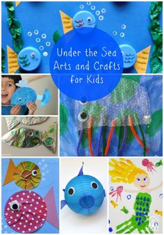 An Ocean Theme or Preschool Unit is always a winner with kids. There are so many interesting underwater sea creatures for kids to have fun making and learning about. We have pulled together the best under the sea arts and crafts is our ultimate list below Under The Sea Crafts, Under The Sea Theme, Projects For Kids, Crafts For Kids, Arts And Crafts, Sea Creatures For Kids, Ocean Crafts, Beach Crafts, Sea Art