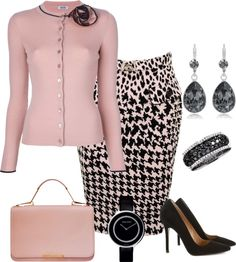 """Houndstooth"" by doris610 on Polyvore"