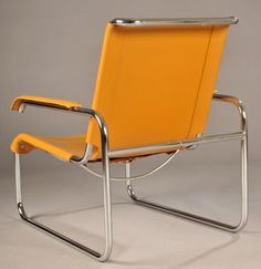 B 35 lounge chair by Thonet, designed by Bauhaus designer Marcel Breuer (1902-81).