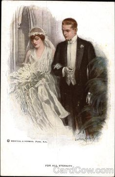 For All Eternity Marriage & Wedding | vintage postcards