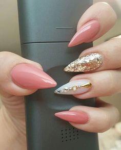 Almond Nails. Acrylic Nails.
