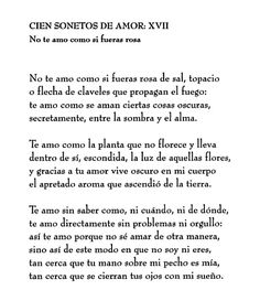 Pablo Neruda - Soneto XVII