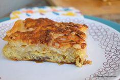 placinta cu cartofi ceapa smantana cascaval savori urbane (1) Pastry Cake, Lasagna, Quiche, Bacon, Food And Drink, Potatoes, Pie, Breakfast, Ethnic Recipes