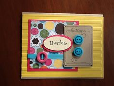 Thank You Card as Cute as a Button by ThisandThatWhimsy on Etsy, $4.00