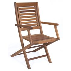 Amazonia Parati Wooden Folding Chair (Set of Two), Brown, Patio Furniture (100% FSC)