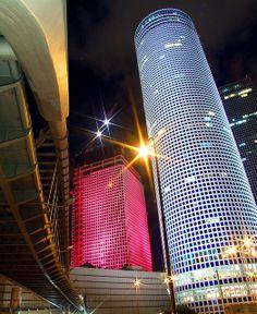 Azrieli Towers III Tel Aviv, Israel by Dave Bender, via Flickr #architecture ☮k☮