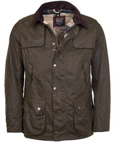 Men's Barbour X Land Rover Kingsholm Waxed Jacket - Olive