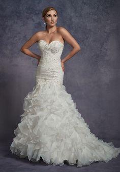1 Wedding by Mary's Bridal 3Y695 Mermaid Wedding Dress