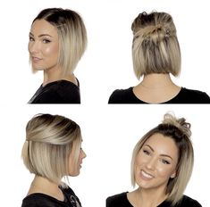 "It can not be repeated enough, bob is one of the most versatile looks ever. We wear with style the French ""bob"", a classic that gives your appearance a little je-ne-sais-quoi. Here is ""bob"" Despite its unpretentious… Continue Reading → Short Hairstyles For Women, Easy Hairstyles, Short Haircuts, Hairstyles 2016, Black Hairstyles, Medium Hair Styles, Short Hair Styles, How To Style Short Hair, Easy Hairstyle Video"