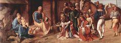Adorazione dei Magi.  1506-1507. Olio su tavola. 29.8x81.3. National Gallery Londra