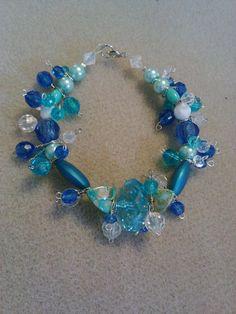blue sky charm bracelet by crazydesigns2012 on Etsy, $9.00