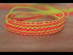 tutorial comment faire un point d'abeille en nid d'abeille de macrame bracelet - YouTube