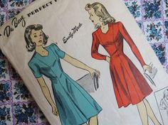 1940s Princess Seam Dress Pattern  Vintage DuBarry by ErikawithaK, $18.00