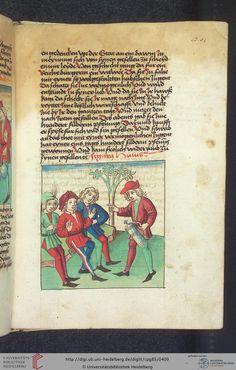 Cod. Pal. germ. 85: Antonius von Pforr: Buch der Beispiele (Schwaben, um 1480/1490), Fol 201r