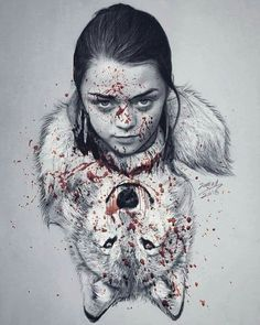 Nymeria & Arya Stark fanart -Game of thrones Mais Source by matheusdardo Valar Dohaeris, Valar Morghulis, Winter Is Here, Winter Is Coming, Game Of Thones, Game Of Thrones Art, Illustration, Maisie Williams, Fire And Ice