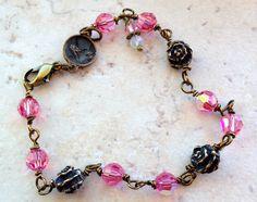 St. Therese of Lisieux Swarovski crystal bracelet.