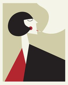 the smoker by  Blanca Gomez - she sells her prints on Etsy herself.