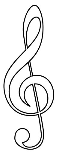 G clef outline