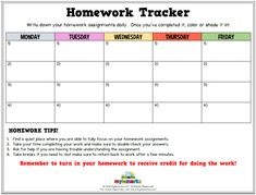 Write down your homework assignments daily. Once you've completed it, color or shade it in! #homework #studyskills #academicsuccess #mylemarks #timemanagement