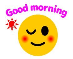 LINE Creators' Stickers - Lovely Faces (Animation Example with GIF Animation Cute Good Morning Gif, Good Morning Smiley, Morning Cartoon, Good Morning Flowers, Animated Emoticons, Funny Emoticons, Smileys, Morning Wishes For Her, Good Morning Greetings