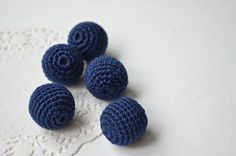 Bead Sets & Mixed – Crochet beads 20 mm - 10 pcs – a unique product by MiracleFromThreads on DaWanda Kit, Beads, Crochet, Unique, Handmade, Etsy, Beading, Hand Made, Chrochet