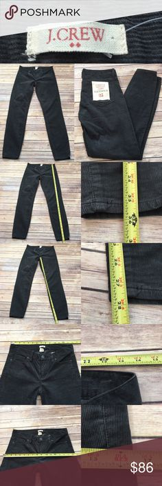 💫NWT 25 J. Crew Vintage toothpick Corduroy Pants Measurements are in photos. BRAND NEW, no flaws. D3  I do not comment to my buyers after purchases, do to their privacy. If you would like any reassurance after your purchase that I did receive your order, please feel free to comment on the listing and I will promptly respond. I ship everyday and I always package safely. Thanks! J. Crew Jeans Skinny
