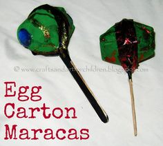 Crafts~N~Things for Children: Egg Carton Maracas Our Cinco de Mayo Crafts kids-crafts-activities-and-education Craft Activities For Kids, Preschool Crafts, Crafts For Kids, Spanish Activities, Craft Ideas, Baby Activities, Teaching Activities, Teaching Kids, Teaching Resources
