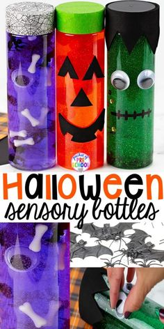 Halloween Sensory Bottles - Pocket of Preschool