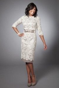 Cute modest after wedding day dress to leave for honeymoon; or prior wedding dress for lunch-in.