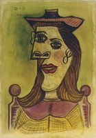 Pablo Picasso. Head of a Woman with Hat, 1939
