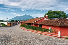 Entrance and Exit of the Beautiful Colonial City Antigua Guatemala