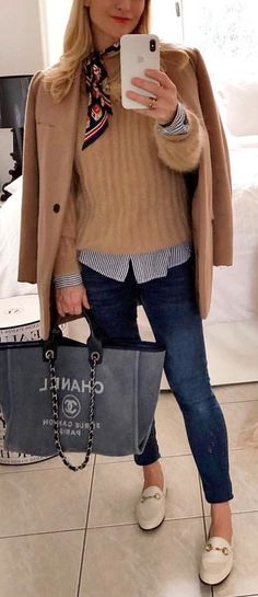 #winter #outfits brown cardigan. Pic by @julielapiparis.