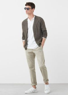 Formal Men Outfit, Outfits Casual, Stylish Mens Outfits, Mode Outfits, Cardigan En Maille, Knit Cardigan, The Cardigans, Look Man, Outfit Jeans