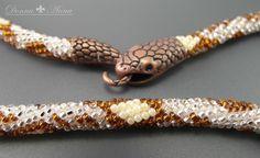 wąż szydełkowy /dostępny/ (bead crochet, ukośnik, wąż, koraliki)