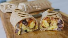 Burritos au congélo | Cuisine futée, parents pressés Egg Recipes, Baby Food Recipes, Cooking Recipes, Best Breakfast Recipes, Brunch Recipes, Quebec, Healthy Meals For Kids, Easy Meals, Freezer Breakfast Burritos