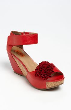 Darling Red Wedge Sandals