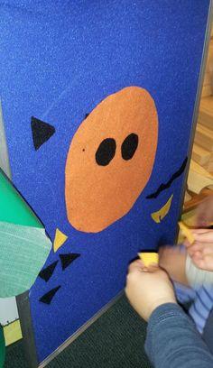 Play, Learn & Do in Preschool - a simple pumpkin felt board idea